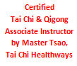 Tai Chi Healthways Certified Associate Instructor